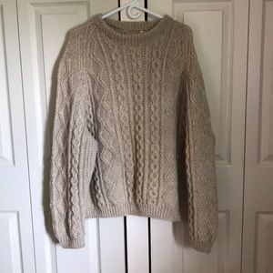 One of a kind tan 100% wool sweater. Size XL